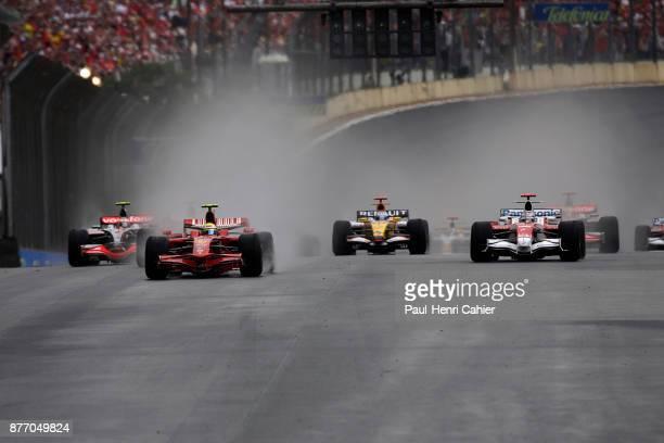 Felipe Massa, Jarno Trulli, Ferrari 2008, Toyota TF108, Grand Prix of Brazil, Autodromo Jose Carlos Pace, Interlagos, Sao Paolo, 02 November 2008....