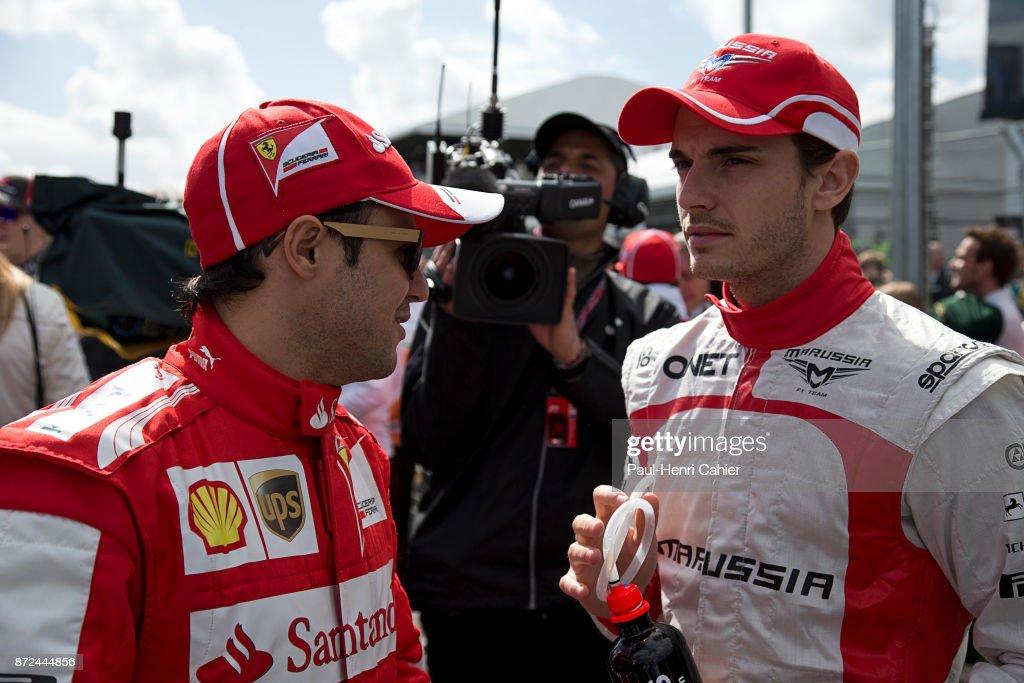 Felipe Massa, Jules Bianchi, Grand Prix of Australia, Albert Park, Melbourne Grand Prix Circuit, 17 March 2013. Felipe Massa and the late Jules Bianchi.