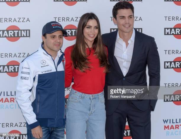 Felipe Massa Melissa Jimenez and Alex Gonzalez attend the inauguration for the Terrazza Martini at Port Vell on May 11 2017 in Barcelona Spain