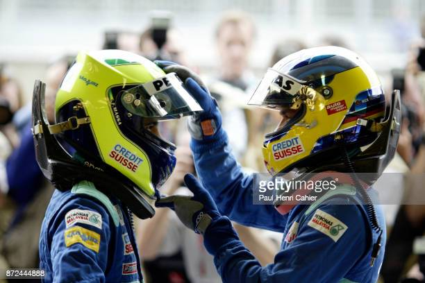 Felipe Massa, Nick Heidfeld, Grand Prix of Italy, Autodromo Nazionale Monza, 15 September 2002. Sauber teammates Felipe Massa and Nick Heidfeld.