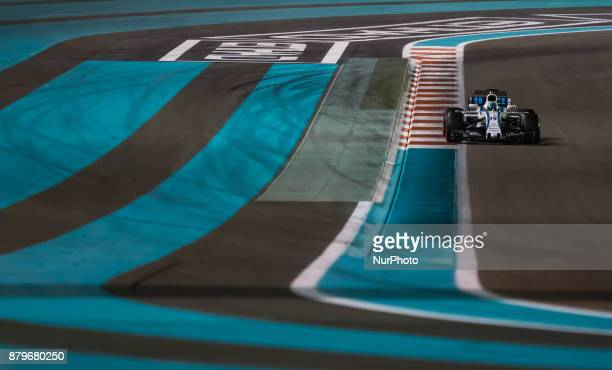 Felipe Massa of Brasil and Williams Team driver goes during the race at Formula One Etihad Airways Abu Dhabi Grand Prix on Nov 26 2017 in Yas Marina...