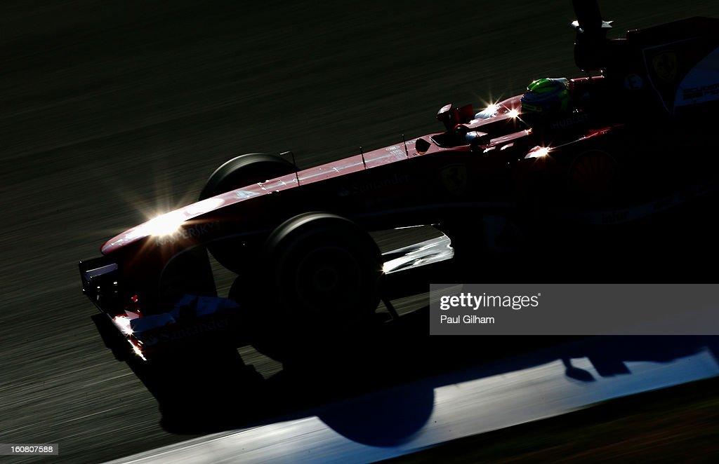 Felipe Massa of Brazil and Ferrari drives during Formula One winter testing at Circuito de Jerez on February 6, 2013 in Jerez de la Frontera, Spain.