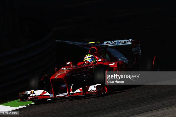 Felipe Massa of Brazil and Ferrari drives during practice for the Italian Formula One Grand Prix at Autodromo di Monza on September 6 2013 in Monza...