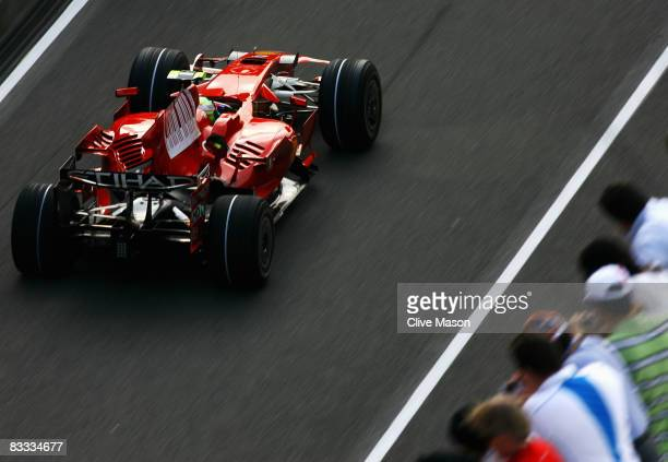 Felipe Massa of Brazil and Ferrari drives during qualifying for the Chinese Formula One Grand Prix at the Shanghai International Circuit on October...