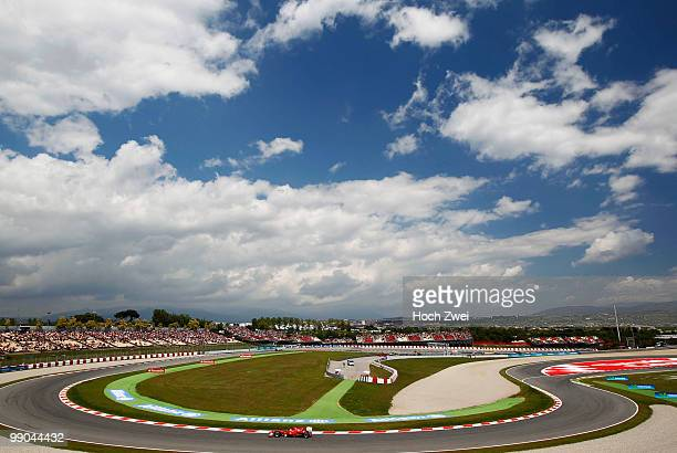 Felipe Massa of Brazil and Ferrari drives during the Spanish Formula One Grand Prix at the Circuit de Catalunya on May 9, 2010 in Barcelona, Spain.