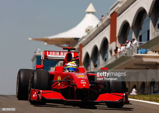 Felipe Massa of Brazil and Ferrari drives in the final practice session prior to qualifying for the Turkish Formula One Grand Prix at Istanbul Park...