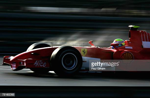 Felipe Massa of Brazil and Ferrari in action during Formula One testing at the Circuit Ricardo Tormo on January 31, 2007 in Valencia, Spain.