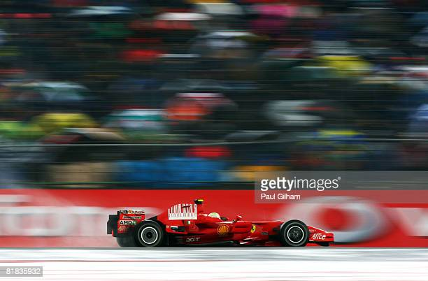 Felipe Massa of Brazil and Ferrari in action during the British Formula One Grand Prix at Silverstone on July 6 2008 in Northampton England