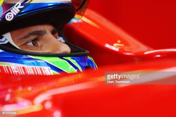 Felipe Massa of Brazil and Ferrari waits to drive during practice for the Turkish Formula One Grand Prix at Istanbul Park on May 9 in Istanbul,...
