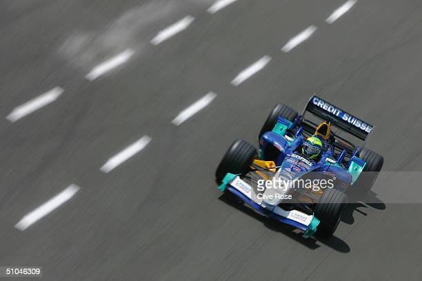 Felipe Massa of Brazil and Sauber in action during qualifying for the Formula One British Grand Prix at Silverstone Circuit on July 10 2004 in...