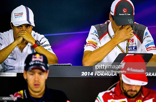 Felipe Massa of Brazil and Williams, Adrian Sutil of Germany and Sauber, Sebastian Vettel of Germany and Infiniti Red Bull Racing and Fernando Alonso...