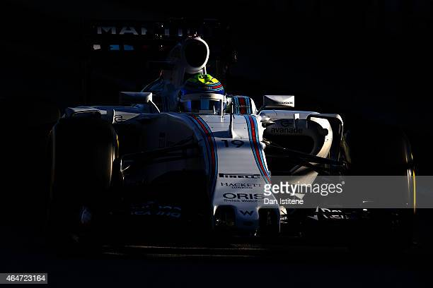 Felipe Massa of Brazil and Williams drives during day three of the final Formula One Winter Testing at Circuit de Catalunya on February 28 2015 in...