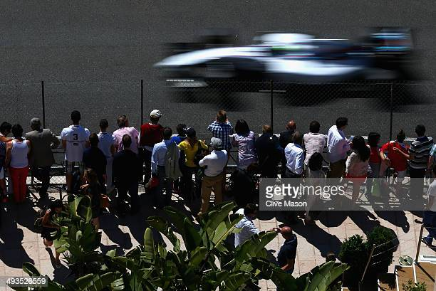 Felipe Massa of Brazil and Williams drives during final practice ahead of the Monaco Formula One Grand Prix at Circuit de Monaco on May 24 2014 in...