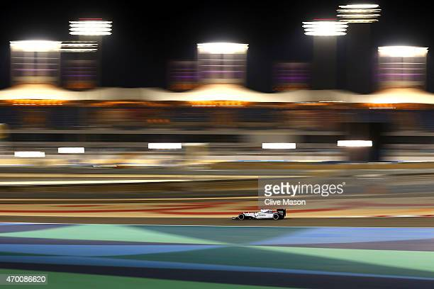 Felipe Massa of Brazil and Williams drives during practice for the Bahrain Formula One Grand Prix at Bahrain International Circuit on April 17 2015...