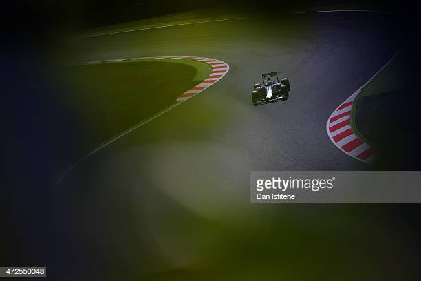 Felipe Massa of Brazil and Williams drives during practice for the Spanish Formula One Grand Prix at Circuit de Catalunya on May 8, 2015 in Montmelo,...