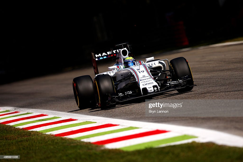 Felipe Massa of Brazil and Williams drives during qualifying for the Formula One Grand Prix of Italy at Autodromo di Monza on September 5, 2015 in Monza, Italy.