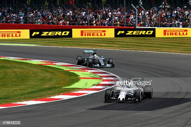 Felipe Massa of Brazil and Williams drives during the Formula One Grand Prix of Great Britain at Silverstone Circuit on July 5 2015 in Northampton...