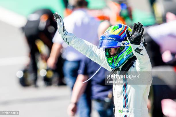 Felipe Massa of Brazil and Williams during the Formula One Grand Prix of Brazil at Autodromo Jose Carlos Pace on November 12 2017 in Sao Paulo Brazil