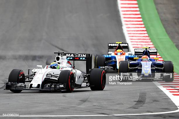 Felipe Massa of Brazil driving the Williams Martini Racing Williams FW38 Mercedes PU106C Hybrid turbo on track during the Formula One Grand Prix of...