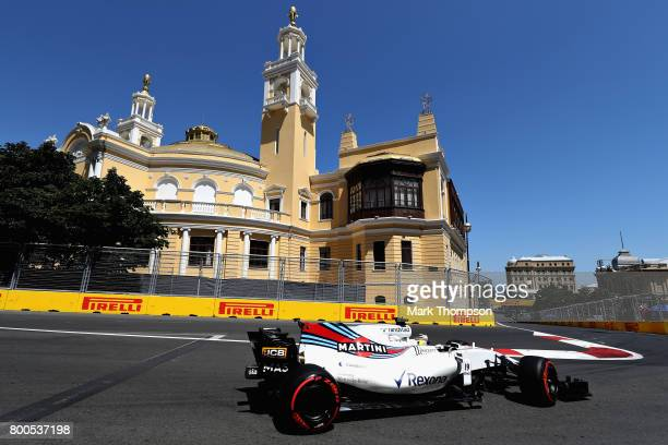 Felipe Massa of Brazil driving the Williams Martini Racing Williams FW40 Mercedes on track during final practice for the Azerbaijan Formula One Grand...