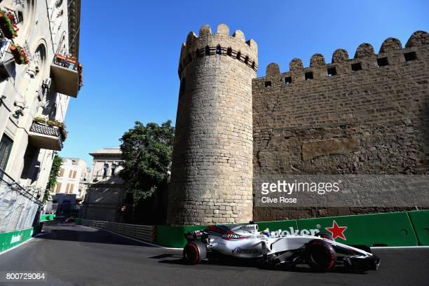 Felipe Massa of Brazil driving the Williams Martini Racing Williams FW40 Mercedes on track during the Azerbaijan Formula One Grand Prix at Baku City...