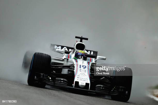 Felipe Massa of Brazil driving the Williams Martini Racing Williams FW40 Mercedes on track during final practice for the Formula One Grand Prix of...