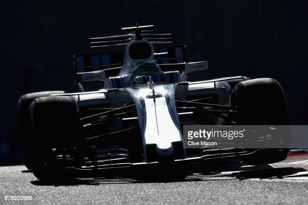 Felipe Massa of Brazil driving the Williams Martini Racing Williams FW40 Mercedes on track during final practice for the Abu Dhabi Formula One Grand...