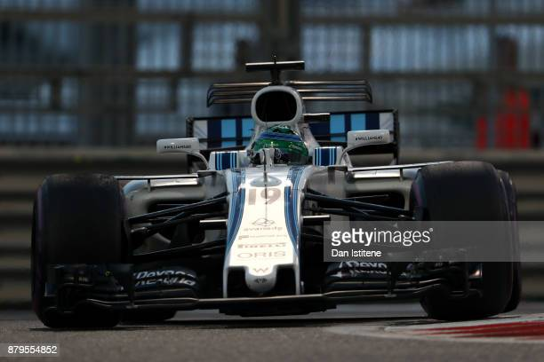 Felipe Massa of Brazil driving the Williams Martini Racing Williams FW40 Mercedes on track during the Abu Dhabi Formula One Grand Prix at Yas Marina...