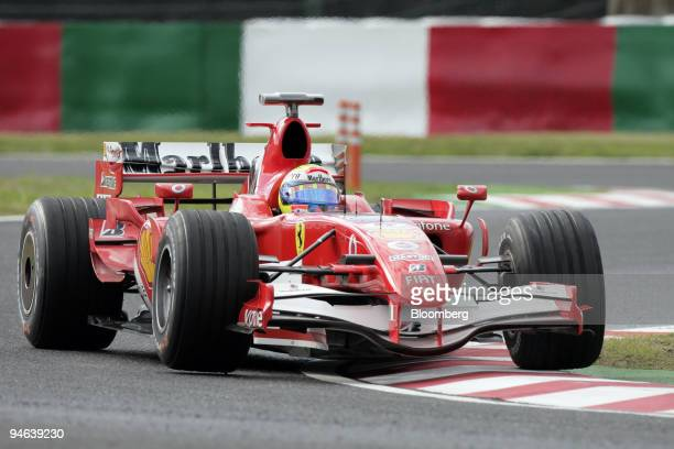 Felipe Massa of Team Ferrari attends the first practice day of the Formula 1 Japanese Grand Prix in Suzuka Japan on Friday October 6 2006