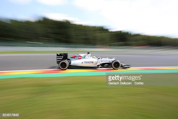 Felipe Massa of the Williams Martini Racing Team during the 2015 Formula 1 Shell Belgian Grand Prix free practice 2 at Circuit de Spa-Francorchamps...