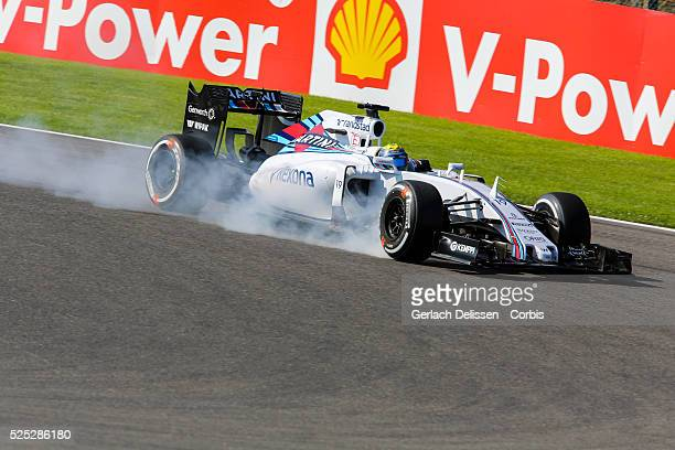Felipe Massa of the Williams Martini Racing Team during the 2015 Formula 1 Shell Belgian Grand Prix free practise 1 at Circuit de Spa-Francorchamps...