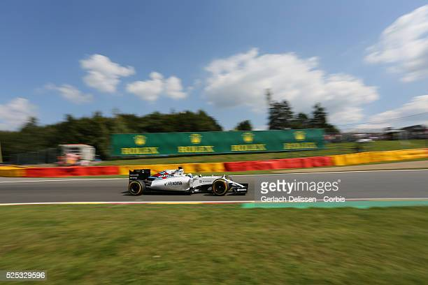 Felipe Massa of the Williams Martini Racing Team during the 2015 Formula 1 Shell Belgian Grand Prix free practice 2 at Circuit de Spa-Francorchamps...