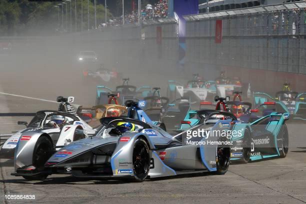 Felipe Massa of Venturi team competes during the 2019 Antofagasta Minerals Santiago E-Prix as part of Formula E 2019 season on January 26, 2019 in...