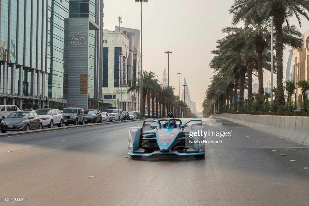 Felipe Massa launches new SAUDIA Ad Diriyah E-Prix at the Ad Diriyah UNESCO Heritage site Saudi Arabia - ahead of The ABB FIA Formula E Championship - Season 5 opening race : News Photo