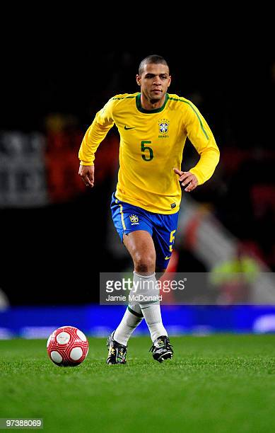 Felipe Melo of Brasil in action during the International Friendly match between Republic of Ireland and Brazil played at Emirates Stadium on March 2,...