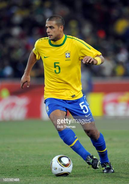 Felipe Melo of Brazil during the 2010 FIFA World Cup South Africa Group G match between Brazil and Ivory Coast at Soccer City Stadium on June 20 2010...