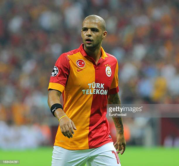 Felipe Melo of Galatasaray AS in action during the UEFA Champions League group stage match between Galatasaray AS and SC Braga on October 2 2012 at...