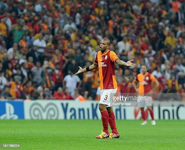 Felipe Melo of Galatasaray AS in action during the UEFA Champions League group stage match between Real Madrid CF and Galatasaray AS held on...