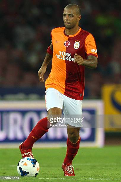 Felipe Melo of Galatasaray in action during the preseason friendly match between SSC Napoli and Galatasaray at Stadio San Paolo on July 29 2013 in...