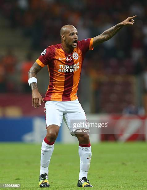 Felipe Melo of Galatasaray in action during the UEFA Champions League group D match between Galatasaray AS and RSC Anderlecht on September 16 at TT...