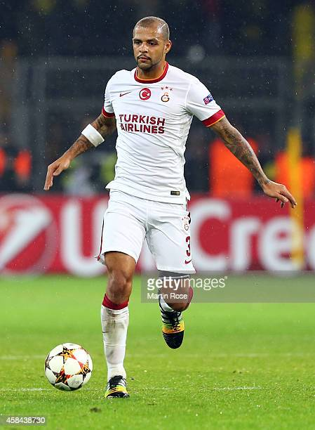 Felipe Melo of Galatasaray runs with the ball during the UEFA Champions League Group D match between Borussia Dortmund and Galatasaray AS at Signal...
