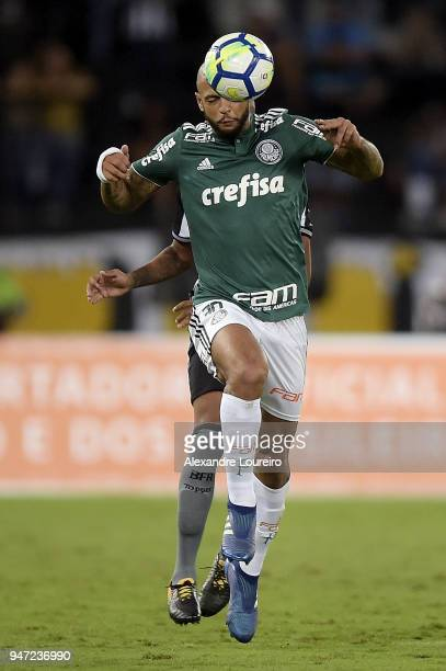 Felipe Melo of Palmeiras in action during the match between Botafogo and Palmeiras as part of Brasileirao Series A 2018 at Engenhao Stadium on April...