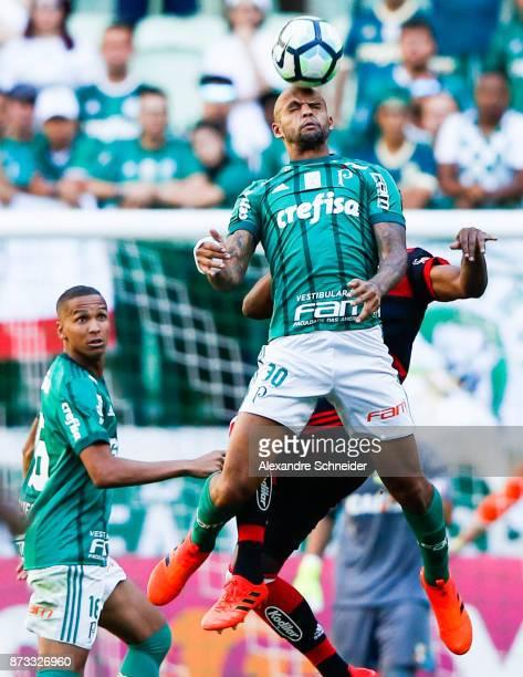 Felipe Melo of Palmeiras in action during the match between Palmeiras and Flamengo for the Brasileirao Series A 2017 at Allianz Parque Stadium on...