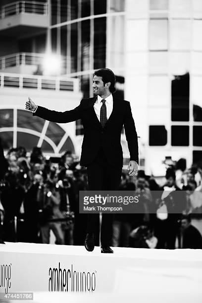 Felipe Nasr of Brazil and Sauber F1 attends the Amber Fashion charity event at the Meridien Beach Plaza during previews to the Monaco Formula One...