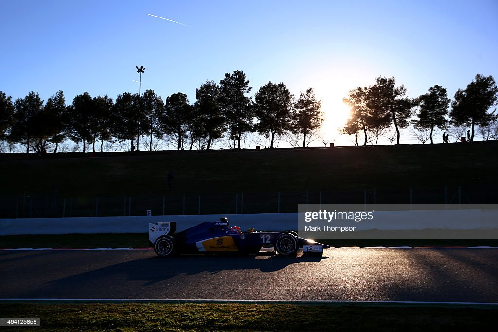 Felipe Nasr of Brazil and Sauber F1 drives during day four of Formula One Winter Testing at Circuit de Catalunya on February 22, 2015 in Montmelo, Spain.