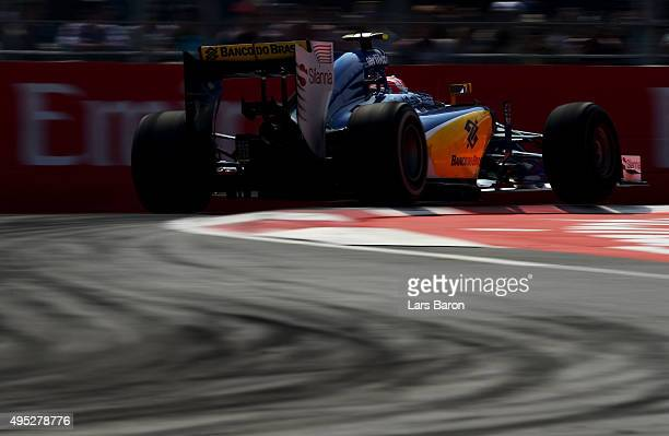 Felipe Nasr of Brazil and Sauber F1 drives during the Formula One Grand Prix of Mexico at Autodromo Hermanos Rodriguez on November 1 2015 in Mexico...