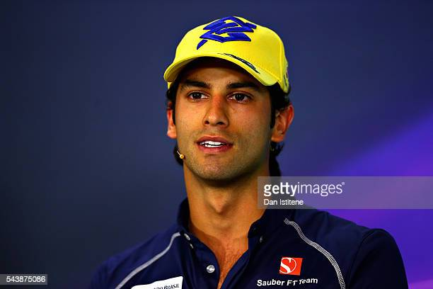 Felipe Nasr of Brazil and Sauber F1 in the Drivers Press Conference during previews ahead of the Formula One Grand Prix of Austria at Red Bull Ring...