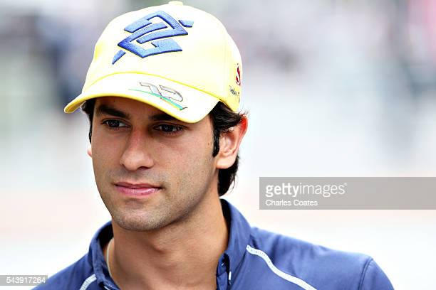 Felipe Nasr of Brazil and Sauber F1 in the Paddock during previews ahead of the Formula One Grand Prix of Austria at Red Bull Ring on June 30 2016 in...