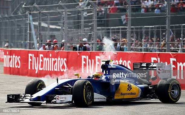 Felipe Nasr of Brazil and Sauber F1 is seen during the Formula One Grand Prix of Mexico at Autodromo Hermanos Rodriguez on November 1 2015 in Mexico...