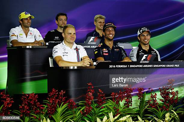 Felipe Nasr of Brazil and Sauber F1 Jolyon Palmer of Great Britain and Renault Sport F1 Marcus Ericsson of Sweden and Sauber F1 Valtteri Bottas of...
